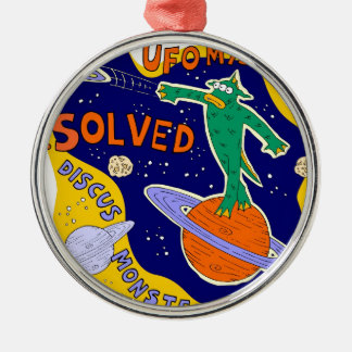 ufo mystery solved Silver-Colored round decoration