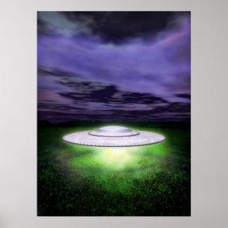 UFO night landing Poster
