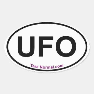 UFO Oval Sticker