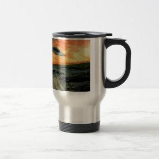 UFO Over Coast Coffee Mug