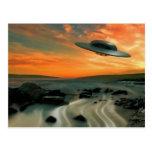 UFO Over Coast Post Cards