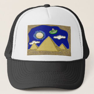 UFO Over Egypt Trucker Hat