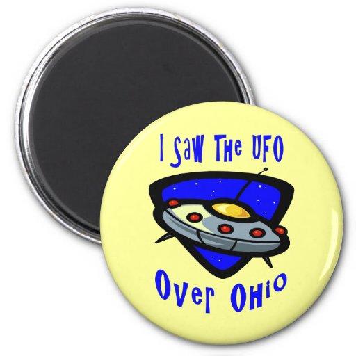 UFO Over Ohio Refrigerator Magnets