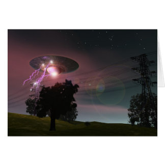 UFO Over Powerlines 2 Card