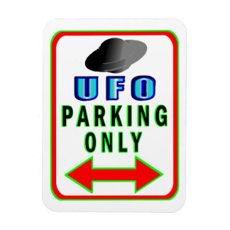 UFO Parking Only Rectangular Photo Magnet