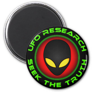 UFO Research Seek The Truth 6 Cm Round Magnet