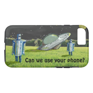 UFO ROBOTS CRASH by Jetpackcorps iPhone 8/7 Case