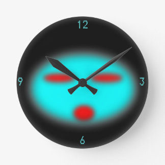 UFO ROUND CLOCK