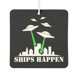 UFO Ships Happen Car Air Freshener