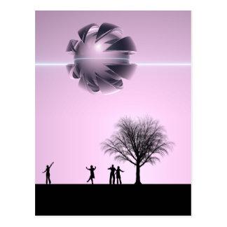 UFO Sighting Postcard