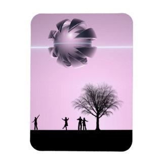UFO Sighting Rectangular Photo Magnet