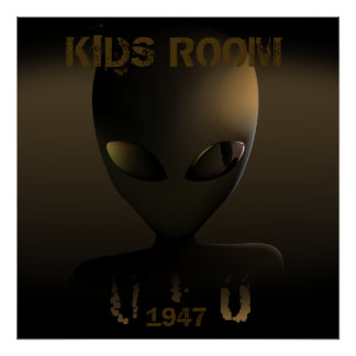 "UFO since 1947 ""KIDS ROOM"" Poster"