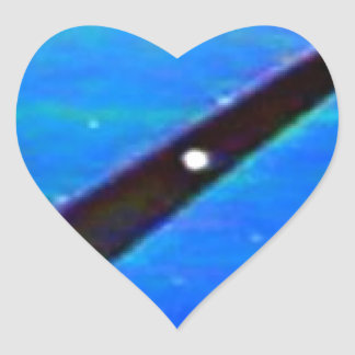 UFO Space Ship Heart Sticker