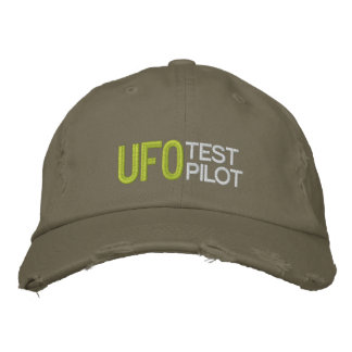 UFO Test Pilot Embroidered Hat