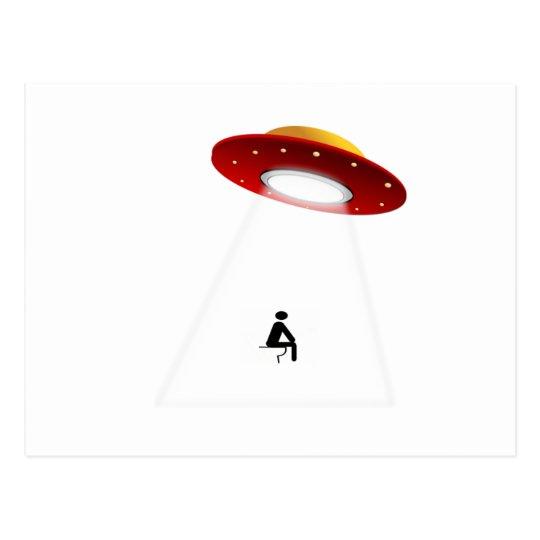 UFO Toilet Postcard