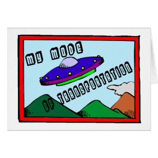 UFO Transportation Greeting Card