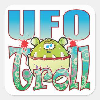 UFO Troll Square Sticker