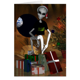 UFO - Unidentified Festive Objects Card