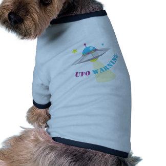 UFO Warning Ringer Dog Shirt