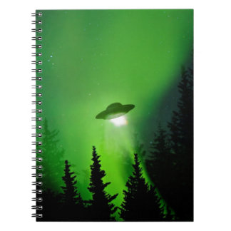 UFO with Northern Lights Notebooks