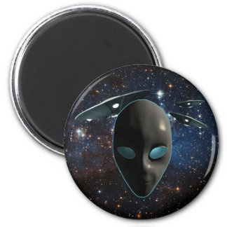 UFOs and Aliens 6 Cm Round Magnet