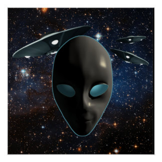 UFOs and Aliens Poster