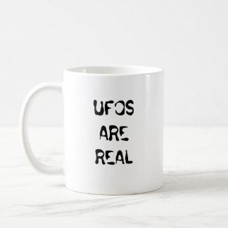 UFOS ARE REAL BASIC WHITE MUG