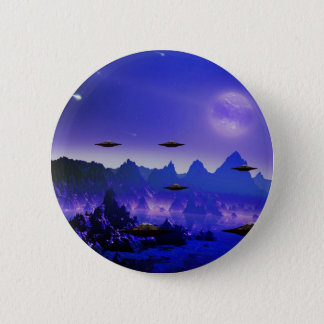UFOs galaxies 6 Cm Round Badge