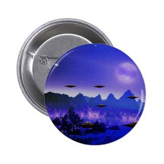 UFOs galaxies 6 Cm Round Badge