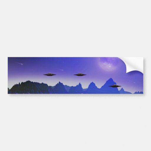 UFOs galaxies Bumper Sticker