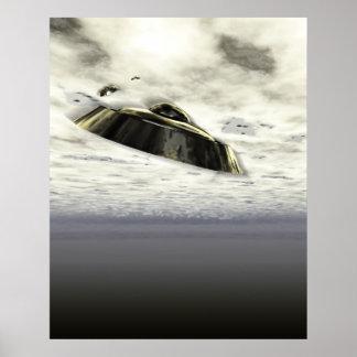 UFOs in Flight Poster