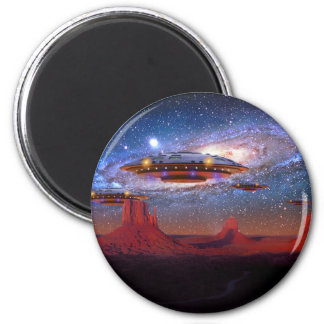UFO's Over Monument Valley Magnet