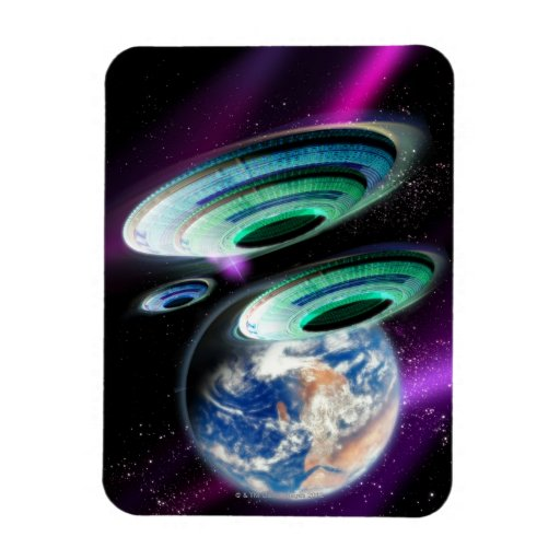 UFOs Rectangle Magnets