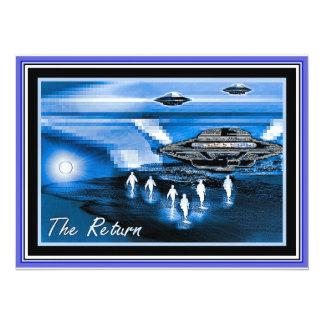 UFOs - The Return 14 Cm X 19 Cm Invitation Card
