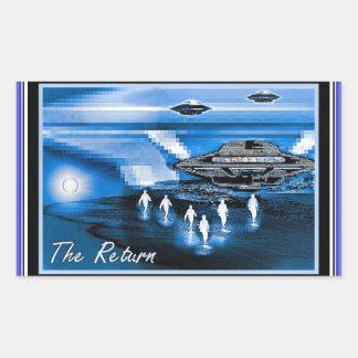 UFOs - The Return Rectangle Sticker