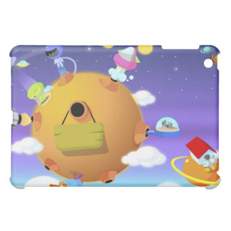 UFO's with planets in space Case For The iPad Mini