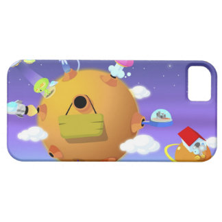 UFO's with planets in space iPhone 5 Cover