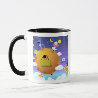 UFO's with planets in space Mug