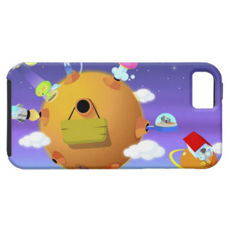 UFO's with planets in space Tough iPhone 5 Case
