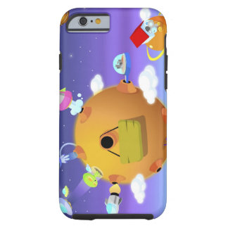 UFO's with planets in space Tough iPhone 6 Case