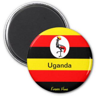 Uganda 6 Cm Round Magnet