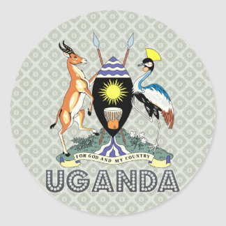 Uganda Coat of Arms Classic Round Sticker