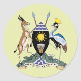 Uganda Coat of Arms detail Classic Round Sticker
