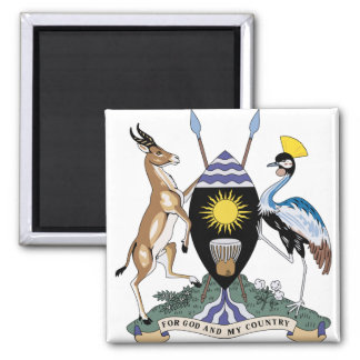Uganda Coat of Arms detail Square Magnet