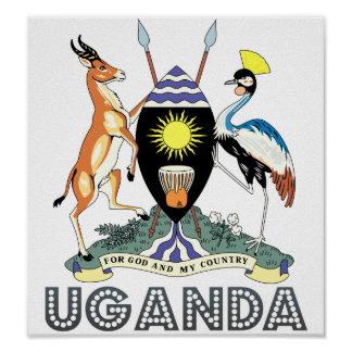 Uganda Coat of Arms Poster