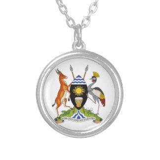Uganda Coat of Arms Round Pendant Necklace