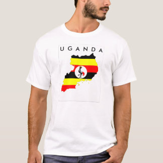 uganda country flag map shape symbol T-Shirt