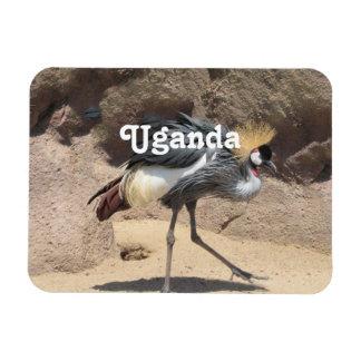 Uganda Crested Crane Rectangular Photo Magnet