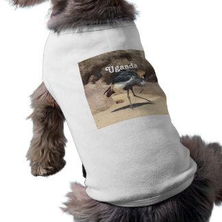 Uganda Crested Crane Sleeveless Dog Shirt