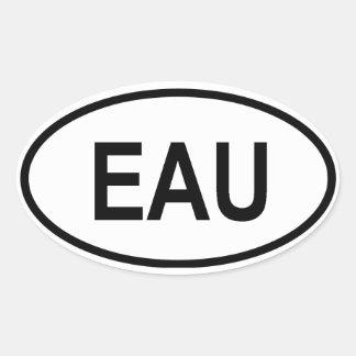 "Uganda ""EAU"" Oval Sticker"